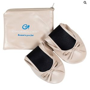 Foldable Ballet Flats by Cinderollies - Nude - NWT